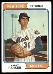 1974 Topps #106  Harry Parker  Front Thumbnail