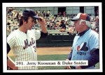 1976 SSPC #591   -  Jerry Koosman / Duke Snider Checklist Front Thumbnail