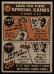 1972 Topps #48   -  John Ellis In Action Back Thumbnail