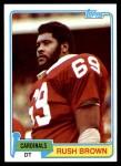 1981 Topps #54  Rush Brown  Front Thumbnail