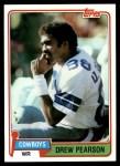 1981 Topps #95  Drew Pearson  Front Thumbnail