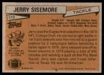 1981 Topps #112  Jerry Sisemore  Back Thumbnail