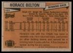 1981 Topps #163  Horace Belton  Back Thumbnail