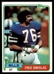 1981 Topps #201  Fred Smerlas  Front Thumbnail