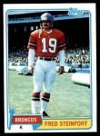 1981 Topps #262  Fred Steinfort  Front Thumbnail