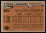 1981 Topps #271  Steve Largent  Back Thumbnail