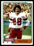 1981 Topps #434  Tim Fox  Front Thumbnail