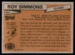 1981 Topps #454  Roy Simmons  Back Thumbnail