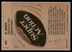 1981 Topps #498  Al 'Bubba' Baker  Back Thumbnail