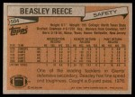 1981 Topps #504  Beasley Reece  Back Thumbnail