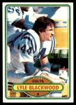 1980 Topps #116  Lyle Blackwood  Front Thumbnail