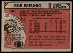 1980 Topps #204  Bob Breunig  Back Thumbnail