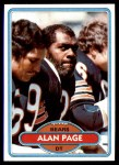 1980 Topps #205  Alan Page  Front Thumbnail