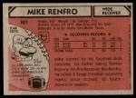 1980 Topps #301  Mike Renfro  Back Thumbnail