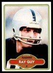 1980 Topps #310  Ray Guy  Front Thumbnail
