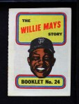 1970 Topps Booklets #24  Willie Mays  Front Thumbnail