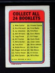 1970 Topps Booklets #1  Mike Cuellar  Back Thumbnail
