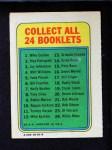1970 Topps Booklets #20  Deron Johnson  Back Thumbnail
