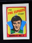 1971 Topps O-Pee-Chee Booklets #2  Phil Esposito  Front Thumbnail