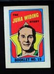 1971 Topps O-Pee-Chee Booklets #19  Juha Widing  Front Thumbnail