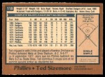 1978 O-Pee-Chee #118  Ted Sizemore  Back Thumbnail