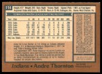 1978 O-Pee-Chee #114  Andre Thornton  Back Thumbnail