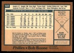 1978 O-Pee-Chee #141  Bob Boone  Back Thumbnail