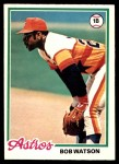1978 O-Pee-Chee #107  Bob Watson  Front Thumbnail