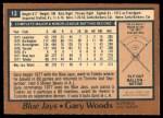 1978 O-Pee-Chee #13  Gary Woods  Back Thumbnail