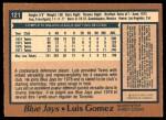 1978 O-Pee-Chee #121  Luis Gomez  Back Thumbnail