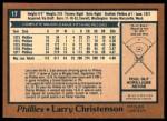 1978 O-Pee-Chee #17  Larry Christenson  Back Thumbnail