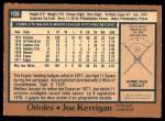 1978 O-Pee-Chee #108  Joe Kerrigan   Back Thumbnail