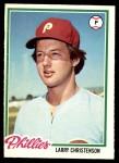 1978 O-Pee-Chee #17  Larry Christenson  Front Thumbnail