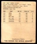1964 Kahn's  Max Alvis  Back Thumbnail