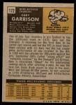 1971 Topps #172  Gary Garrison  Back Thumbnail