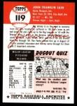 1953 Topps Archives #119  Johnny Sain  Back Thumbnail