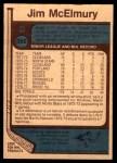 1977 O-Pee-Chee #352  Jim McElmury  Back Thumbnail