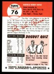 1953 Topps Archives #76  Pee Wee Reese  Back Thumbnail