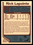 1977 O-Pee-Chee #152  Rick Lapointe  Back Thumbnail