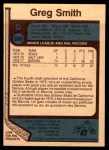 1977 O-Pee-Chee #269  Greg Smith  Back Thumbnail