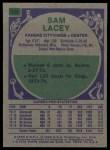 1975 Topps #158  Sam Lacey  Back Thumbnail