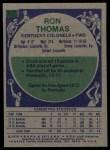 1975 Topps #277  Ron Thomas  Back Thumbnail