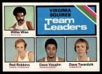 1975 Topps #287   -  Willie Wise / Red Robbins / David Vaughn / Dave Twardzik Squires Team Leaders Front Thumbnail