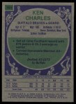 1975 Topps #101  Ken Charles  Back Thumbnail