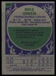 1975 Topps #247  Mike Green  Back Thumbnail