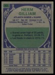 1975 Topps #43  Herm Gilliam  Back Thumbnail