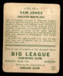 1933 Goudey #81  Sam Jones  Back Thumbnail