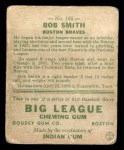1933 Goudey #185  Bob Smith  Back Thumbnail