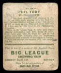 1933 Goudey #86  Phil Todt  Back Thumbnail