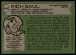 1978 Topps #498  Rich Saul  Back Thumbnail